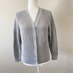 New UNIQLO COTTON CASHMERE RIBBED RELAXED CARDIGAN NWT
